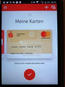 Sparkasse Karte.Sparkassen Starten Mobiles Bezahlen Mit Girocard Und